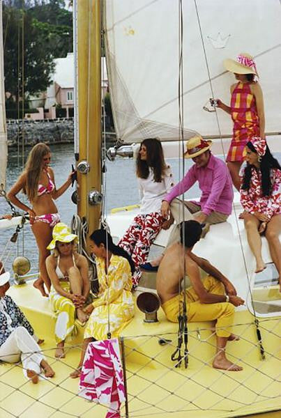 "Slim Aarons - ""Colorful Crew"" 1970"