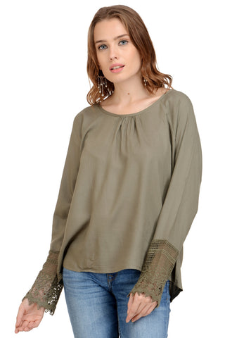 KHAKI GREEN BASIC TOP