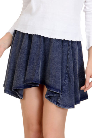 Dancing Blue Mini Skirt