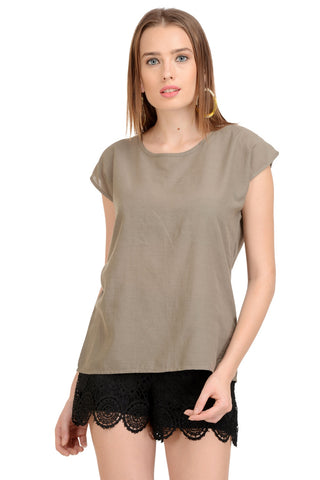Plain Khaki Top