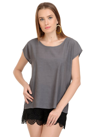 Plain Grey Top