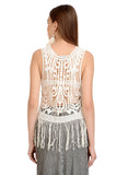 OFF WHITE BOHO Crochet TOP