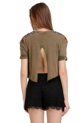 OPEN BACK BOHO TOP
