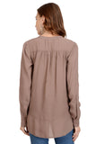 LIGHT BROWN SHIRT TOP