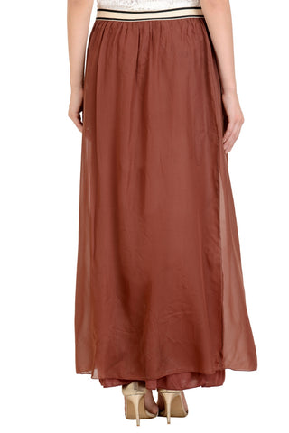 rust red maxi skirt