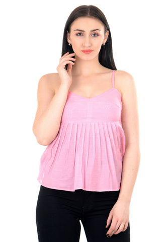 fuschia pink top