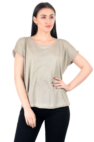 soft beige basic top