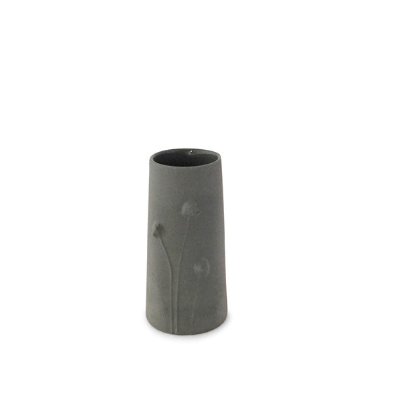Poppy Vase small / Dark grey