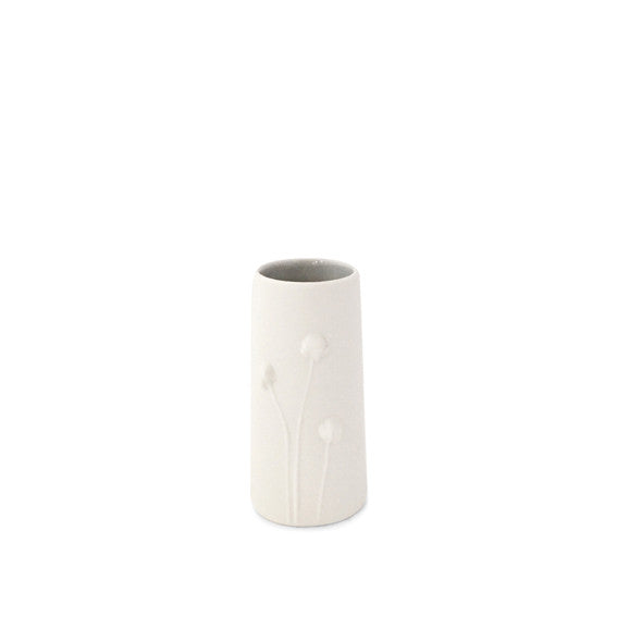 Poppy Vase small / White and light grey