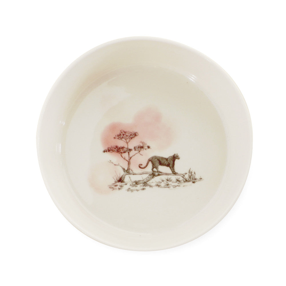 Safari bowl  /  Leopard pink