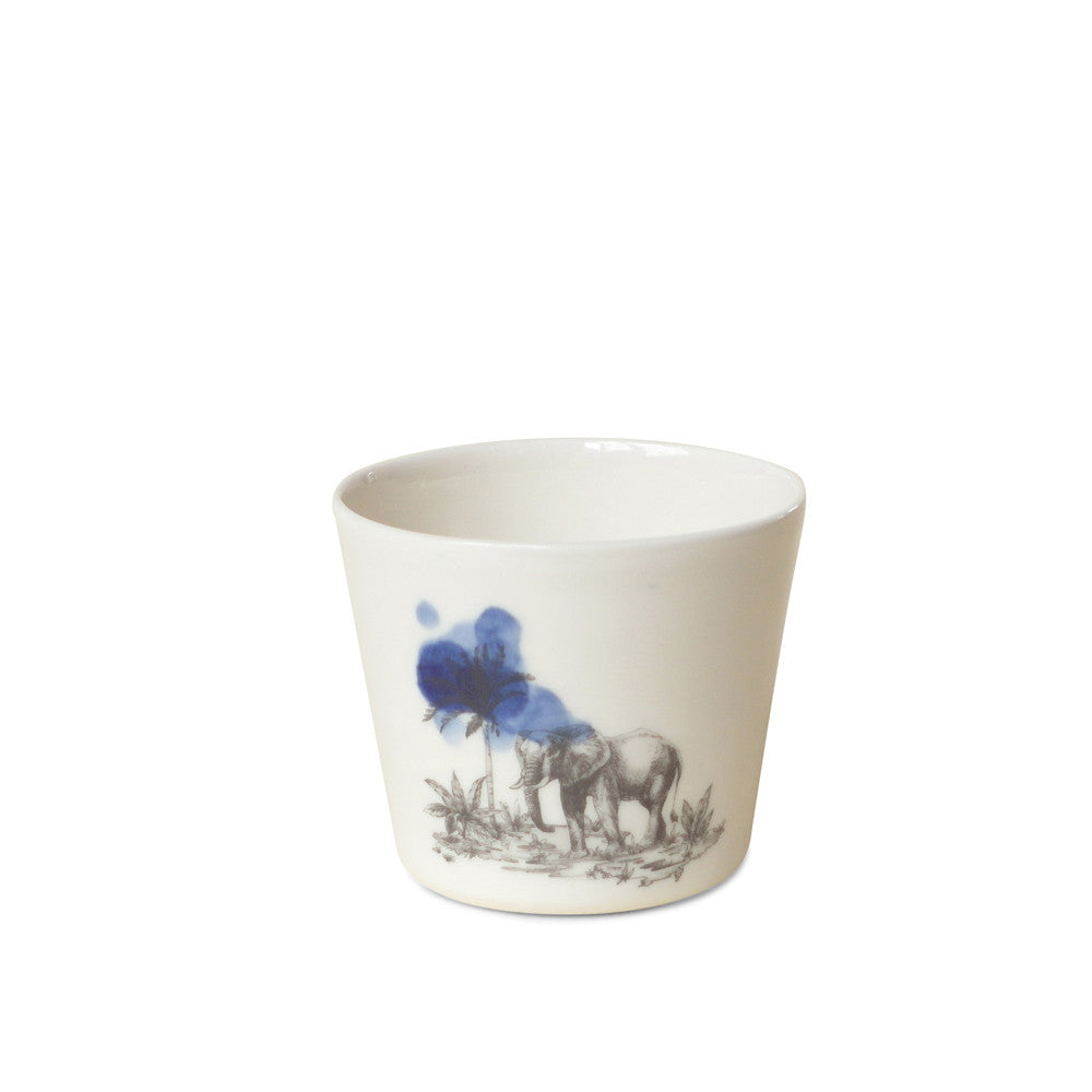 Safari Cup  /  Elephant blue