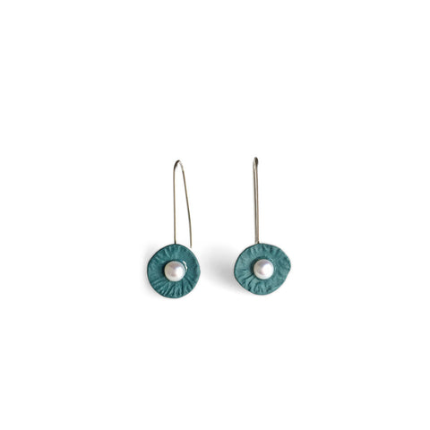 Drop Earrings  /  Dusty green