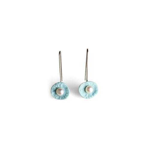 Drop Earrings  /  Light blue