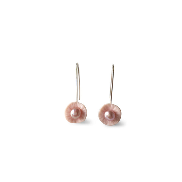 Drop Earrings  /  Pale pink