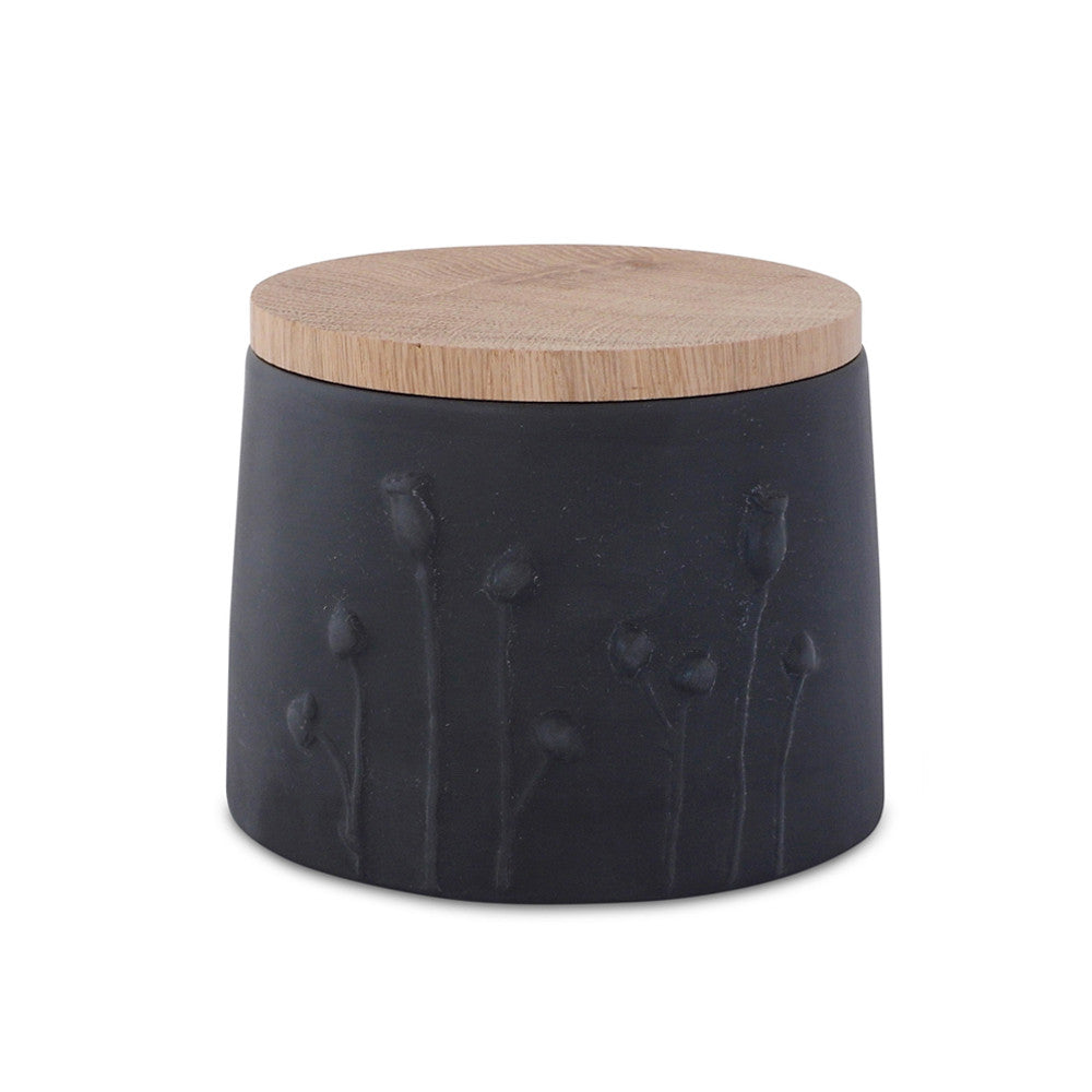 Poppy Jar  /  black