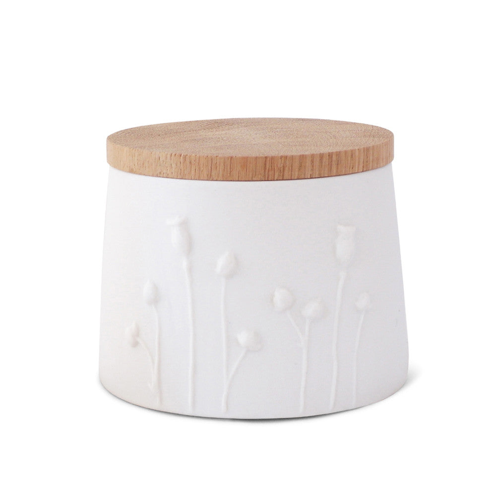 Poppy Jar  /  white