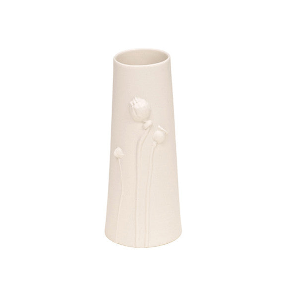 Poppy Vase large / White