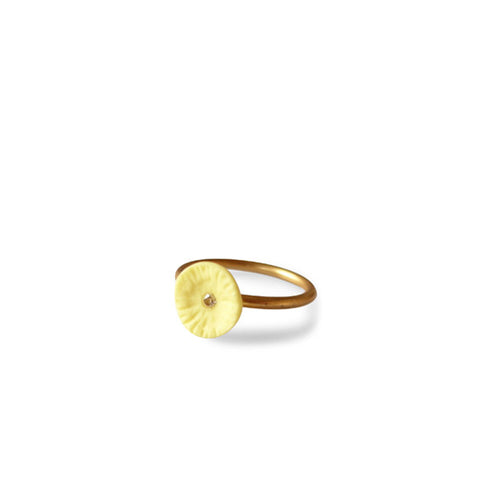 Ring zirconia  /  Lemon