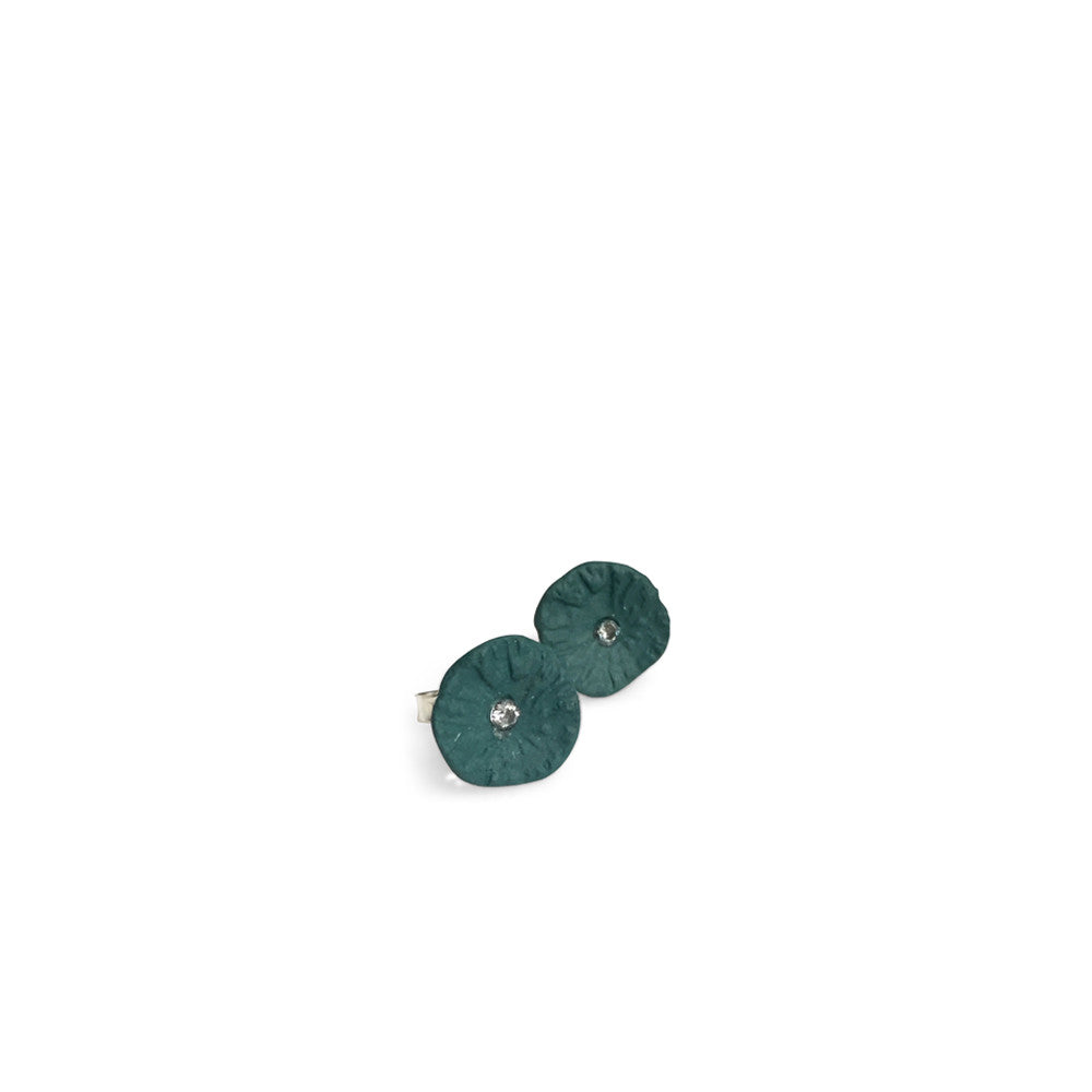 Studs zirconia  /  Dark green