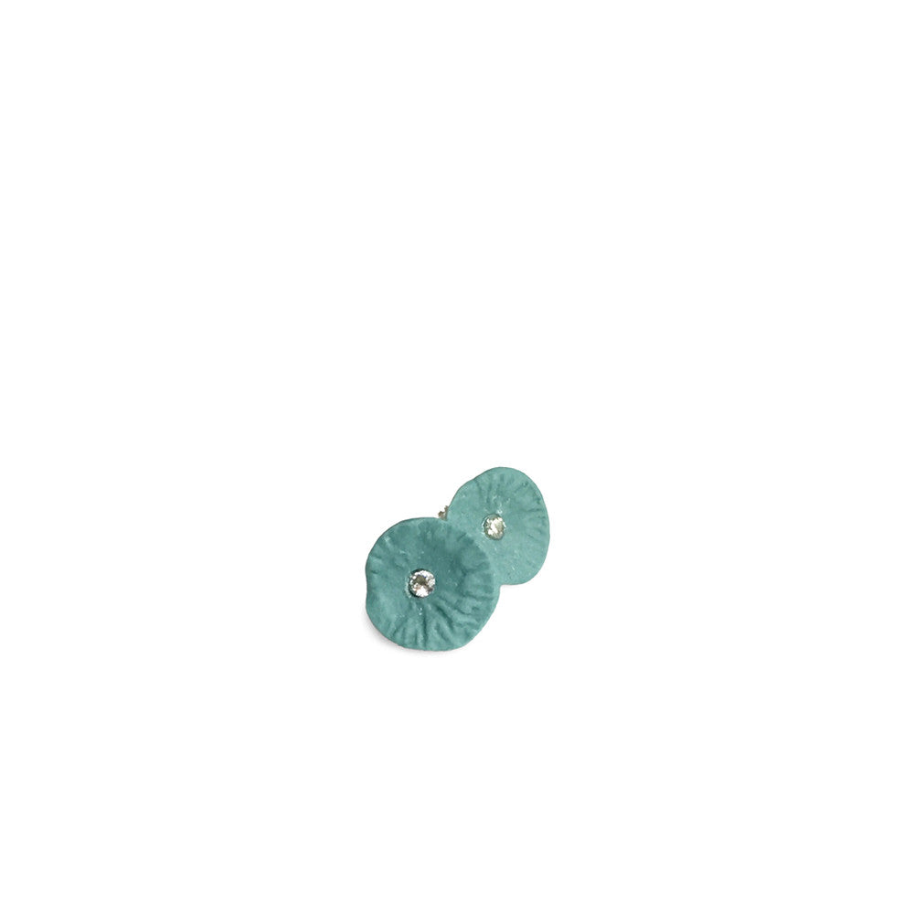 Studs zirconia  /  Dusty green