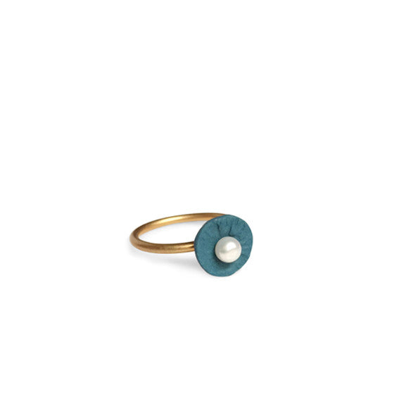Ring pearl  /  Petrolium