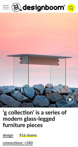 designboom G collection from takehomedesign furniture brand