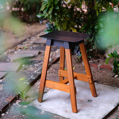 designexcellent gooddesign award simsteelbarstool solidwood furnituredesign