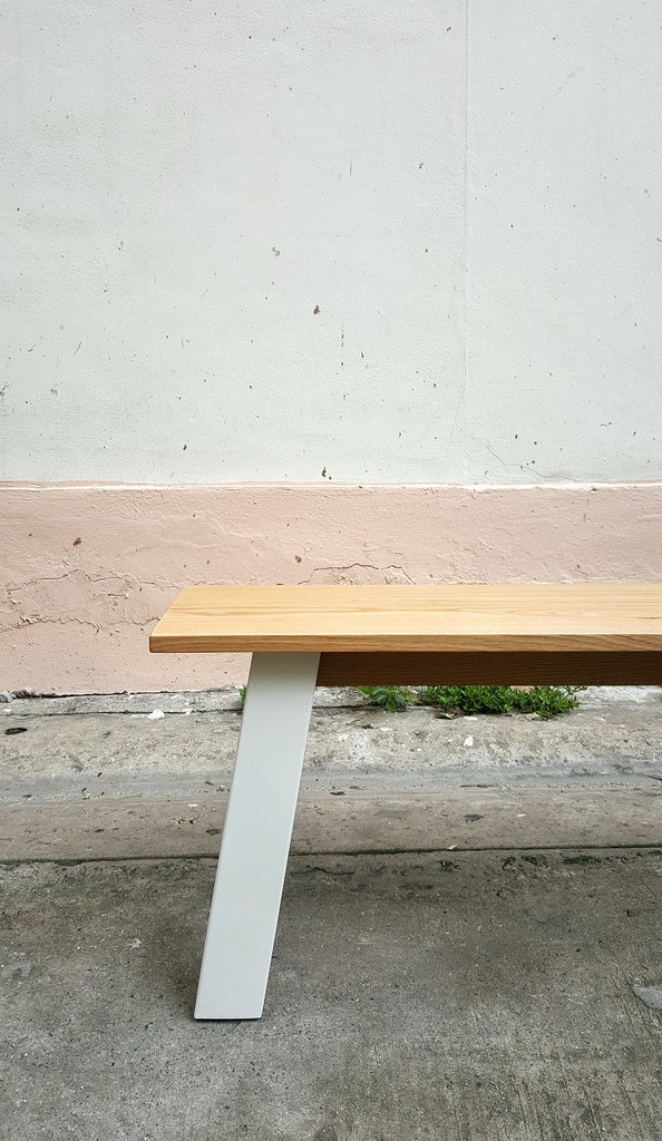 SIM VERSE Bench-White Steel