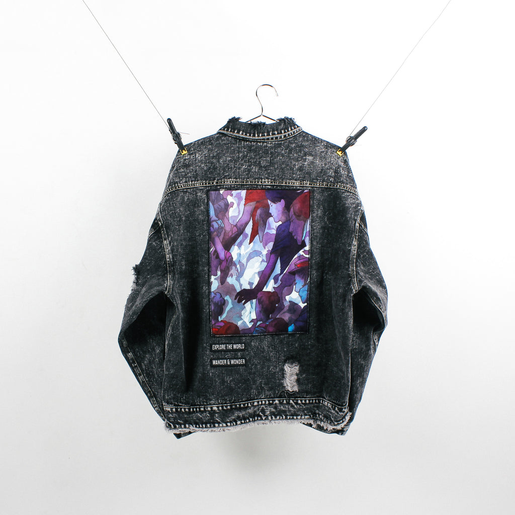 """The Explorer"" Black Denim Jacket"