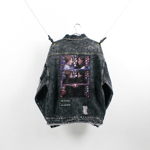 """The Lovers"" Black Denim Jacket"