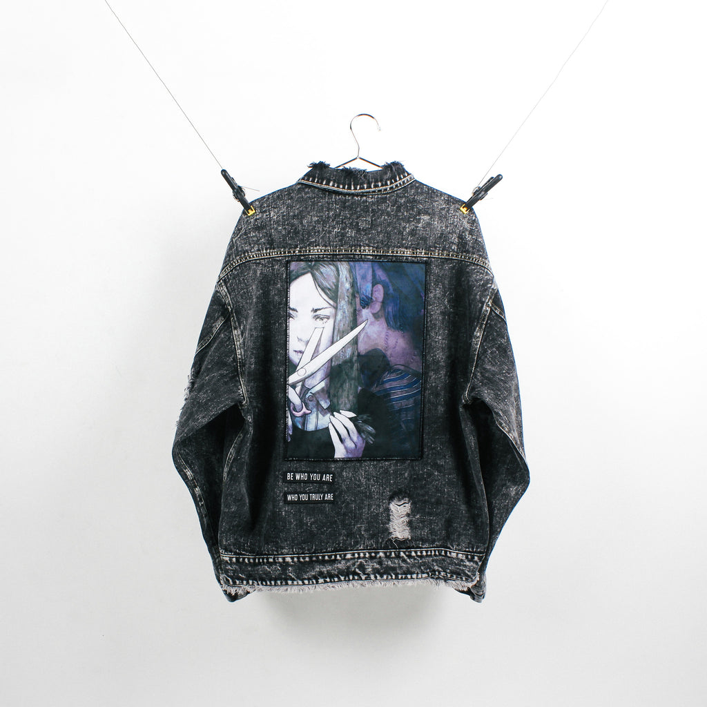"""The Rebel"" Black Denim Jacket"