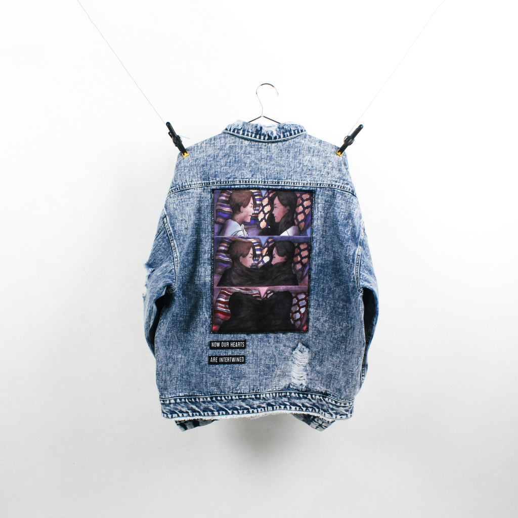 """The Lovers"" Blue Denim Jacket"