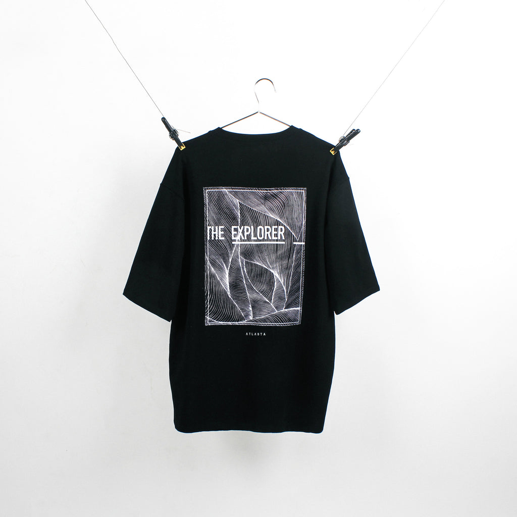 """The Explorer"" Black T-Shirt"