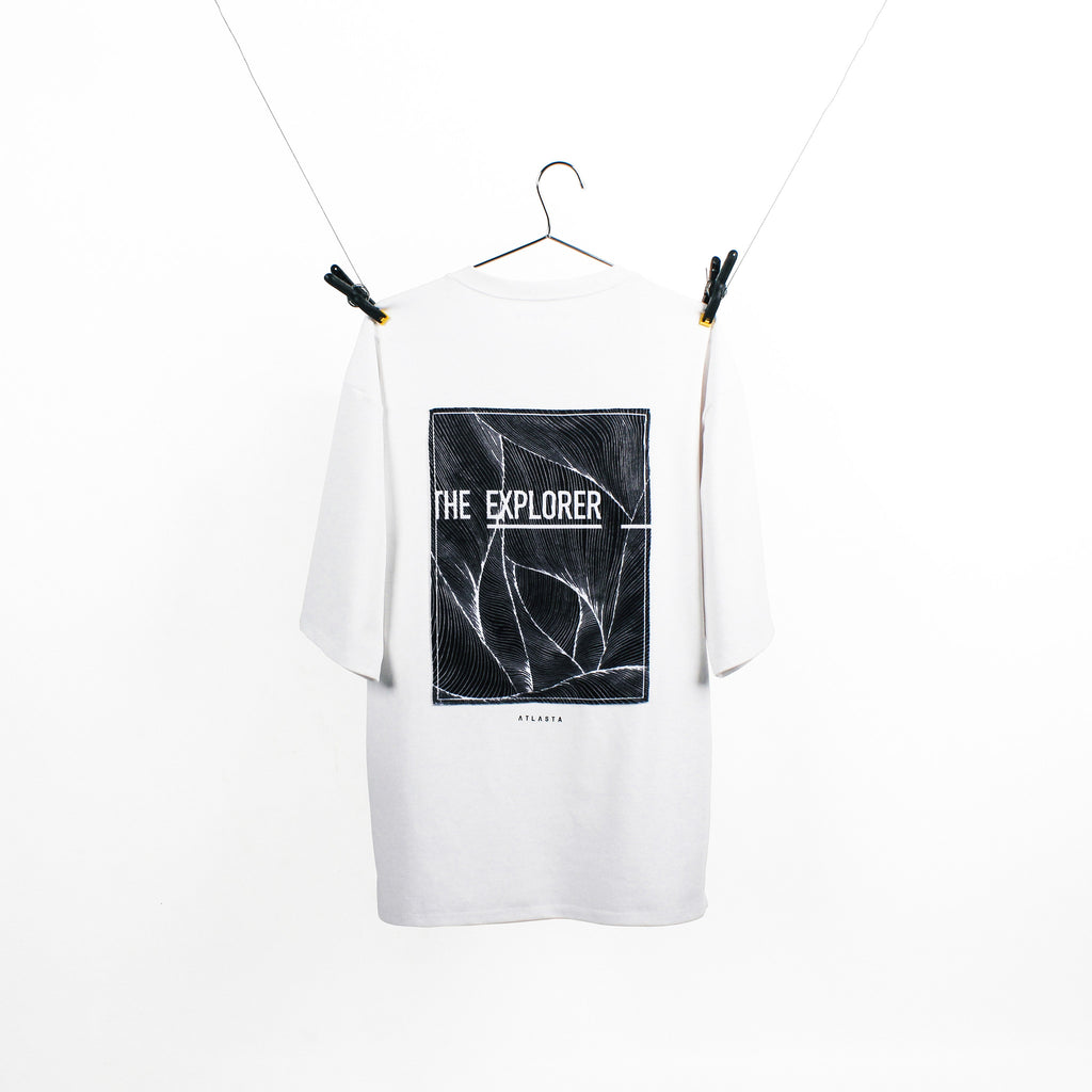 """The Explorer"" White T-Shirt"