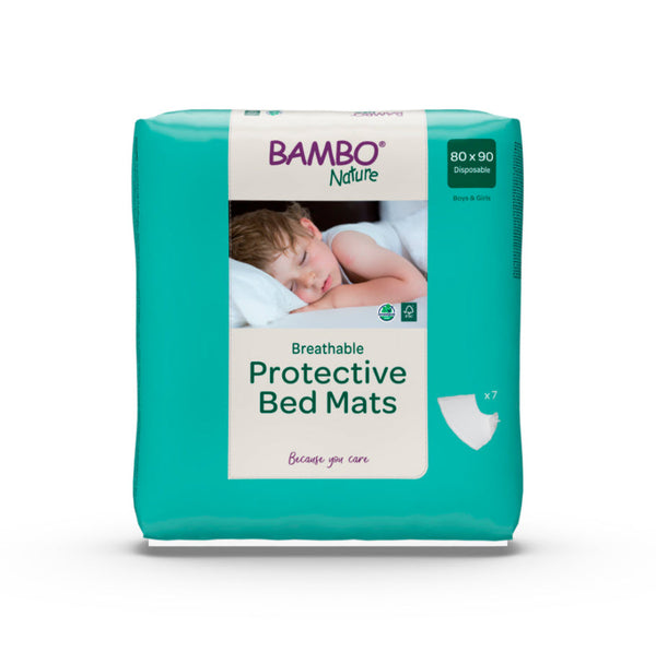 Underlag, Bambo Nature Protective Bed Mats, 90x80cm, hvid
