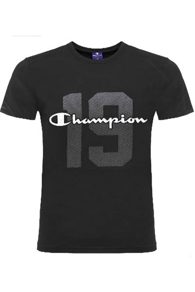 Champion tee athletic black - s fra champion på luxivo.dk