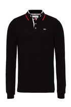Tommy Hilfiger L/S Tipped Slim Polo Black