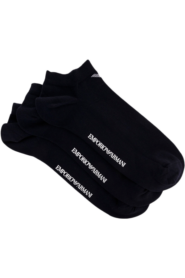 Image of   Armani 3-Pack Ankle Socks Black