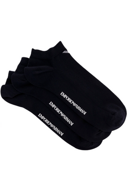 Armani 3-Pack Ankle Socks Black