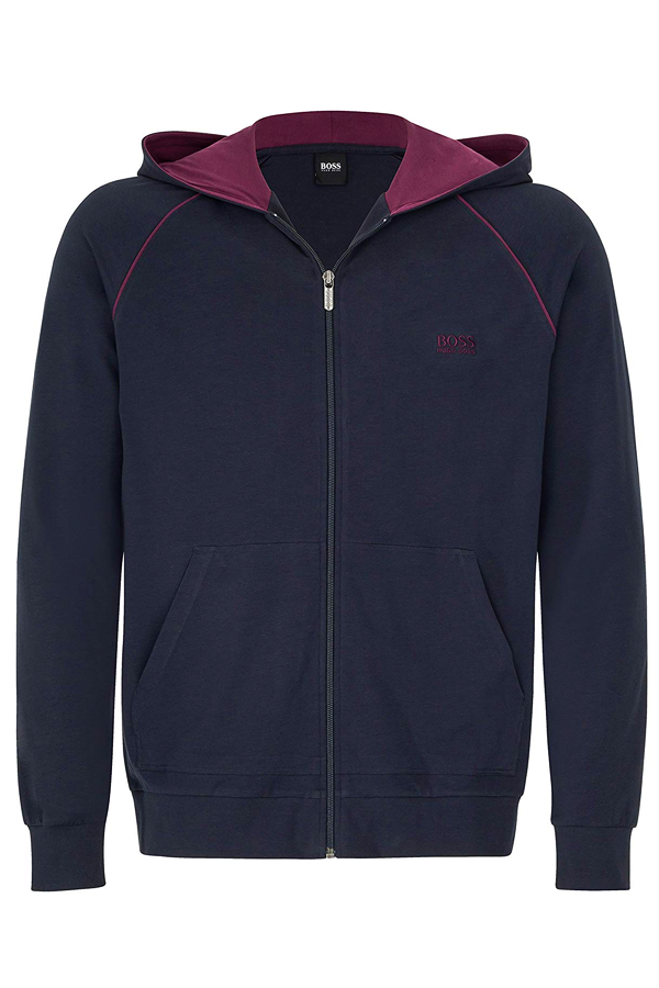 Hugo Boss Full Zip Hoodie Navy/Bordeaux