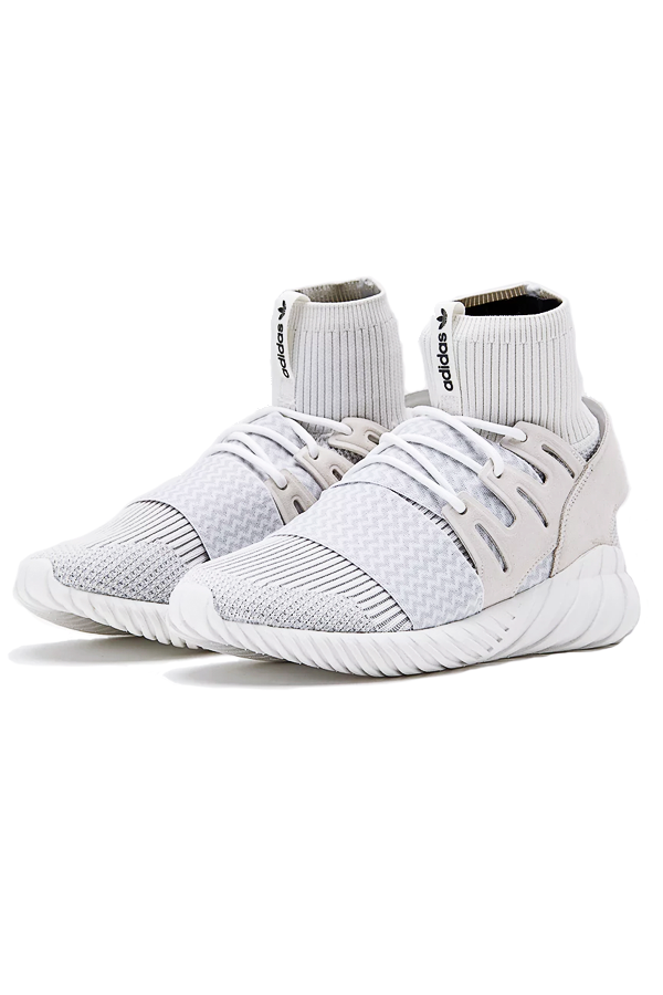 Image of   Adidas Originals Tubular Doom PrimeKnit White - 41 1/3