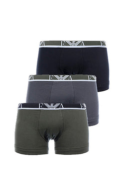 Emporio Armani Trunks 3-Pack Green multi