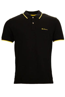 Ben Sherman Pique Polo Black