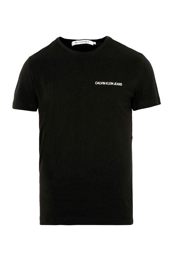calvin klein – Calvin klein institutional s/s chest tee black - xl på luxivo.dk