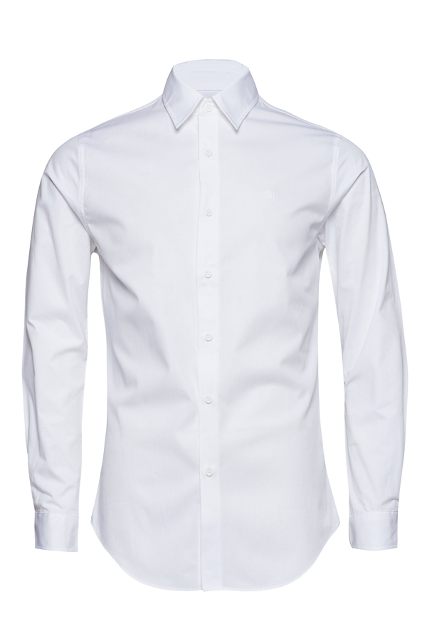 Calvin Klein Embro Twill Slim Shirt White