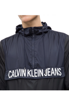 Calvin Klein Jeans Color Block Popover Jacket Black
