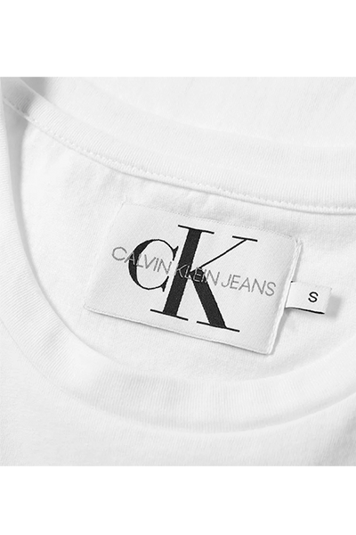 Calvin Klein Monogram Chest Logo Tee White