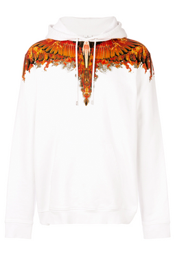 Marcelo Burlon Flame Wing Hoodie White