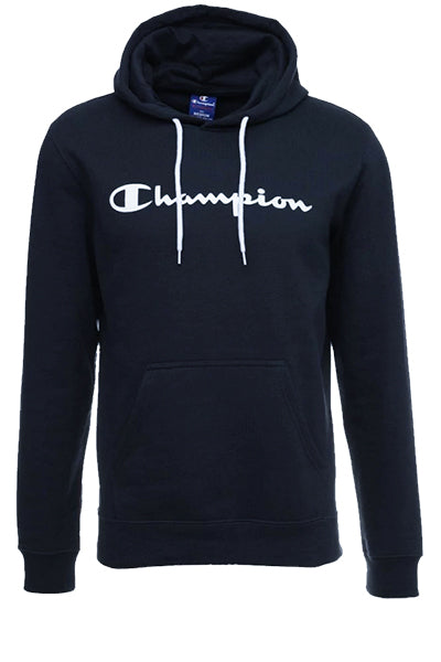 champion – Champion logo hoodie navy - s fra luxivo.dk