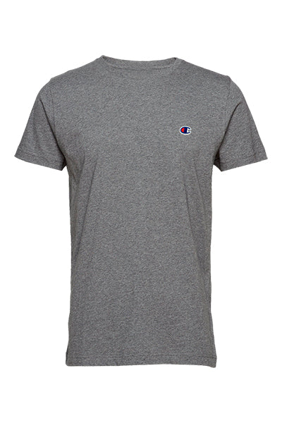 Champion Chest Logo Tee Grey